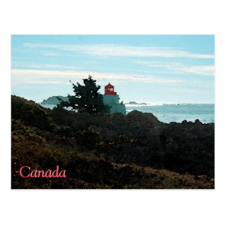 Amphitrate Lighthouse postcard - Canada