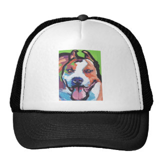 Amstaff American Staffordshire Terrier pop art Trucker Hat