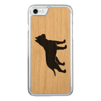 AmStaff Silhouette (Cropped Ears) Carved iPhone 7 Case