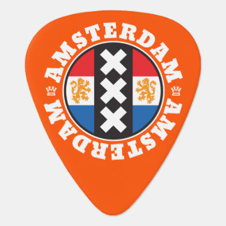 Amsterdam 3 Crosses Symbol with Dutch Flag Guitar Pick