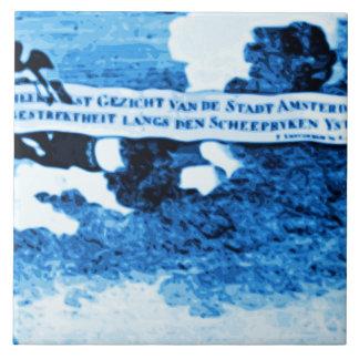 Amsterdam Antique Ships Delftware Vintage Look A2 Tile