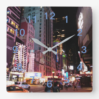 Amsterdam Avenue New York City 2017 Square Wall Clock