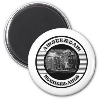 AMSTERDAM BLACK AND WHITE MAGNET