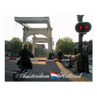 Amsterdam Bridge Holland Postcard