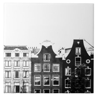 Amsterdam buildings photo wall tile