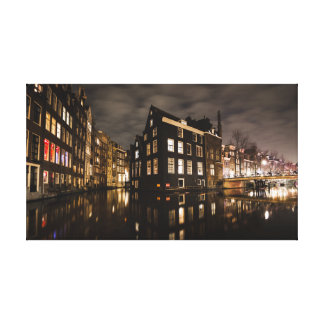 Amsterdam by night canvas print