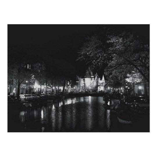 Amsterdam by Night Postcard