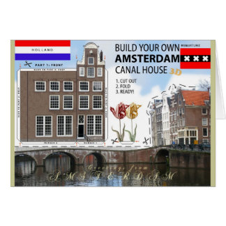 Amsterdam Canal House Cut and Fold Photo Card