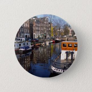Amsterdam Canal - Spiegelgracht 2 Inch Round Button