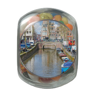 Amsterdam Canal with boats