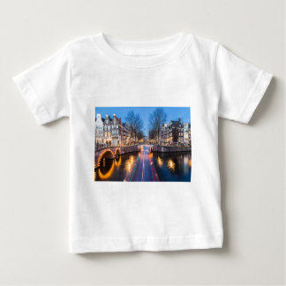 Amsterdam Canals at Night Baby T-Shirt