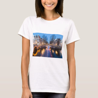 Amsterdam Canals at Night T-Shirt