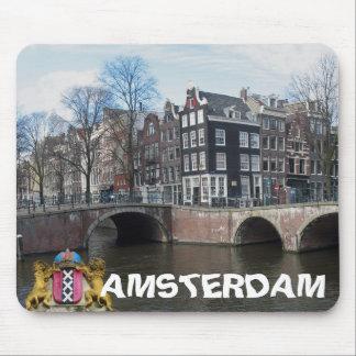 Amsterdam Canals & Bridges Photo Mousepad