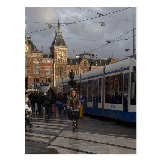 Amsterdam Central Station Postcard