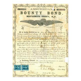 Amsterdam Civil War Slavery Bounty Bond Postcard