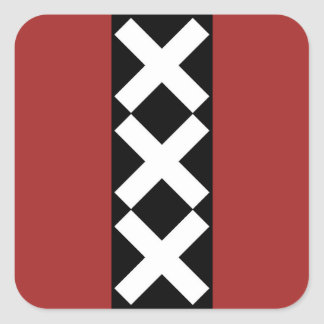 Amsterdam Coat of Arms Square Sticker
