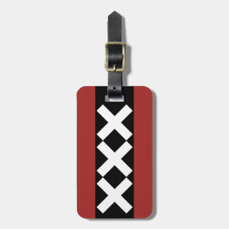 Amsterdam Coat of Arms symbol. Luggage Tag