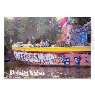 Amsterdam Coffeeshop, Birthday Wishes Card