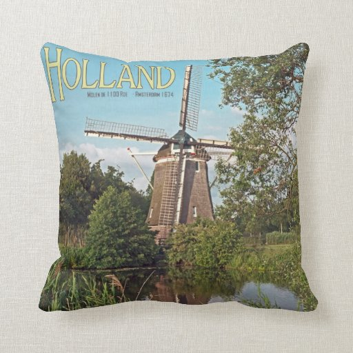 Amsterdam - De 1100 Roe Windmill Throw Pillows