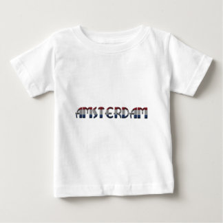 Amsterdam Dutch Flag Colors Netherlands Typography Baby T-Shirt