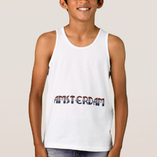 Amsterdam Dutch Flag Colors Netherlands Typography Tank Top
