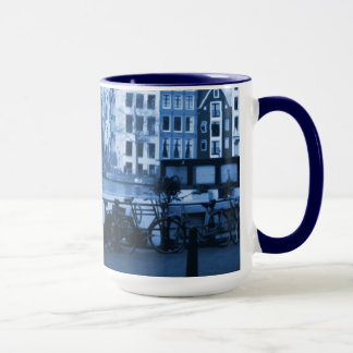 Amsterdam Holland Cityscape Delft-Blueware-Look Mug