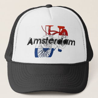 Amsterdam Holland Netherlands Cycling Trucker Hat