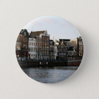 Amsterdam Houses 2 Inch Round Button