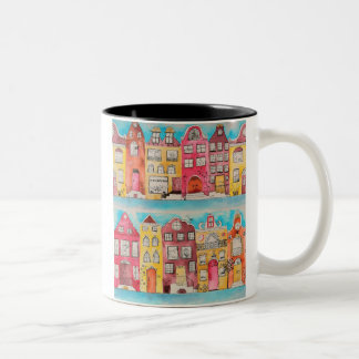 Amsterdam in love mosquito Two-Tone coffee mug