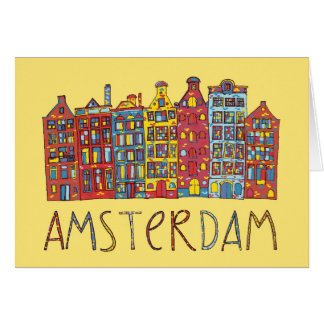 Amsterdam In Mosaic Card