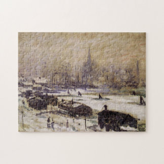 Amsterdam in the Snow Monet Fine Art Jigsaw Puzzle