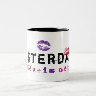 Amsterdam - Love is not free Two-Tone Coffee Mug