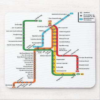 Amsterdam metro Mousepad