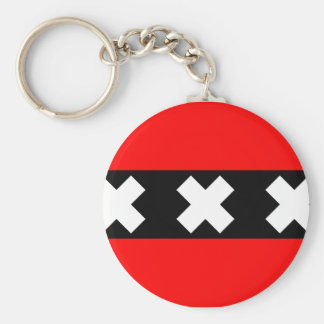 Amsterdam, Netherlands Basic Round Button Keychain