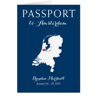 Amsterdam Netherlands Birthday Passport Card