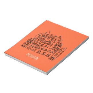 Amsterdam Netherlands Holland City Souvenir Orange Notepad