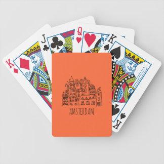 Amsterdam Netherlands Holland City Souvenir Orange Poker Deck