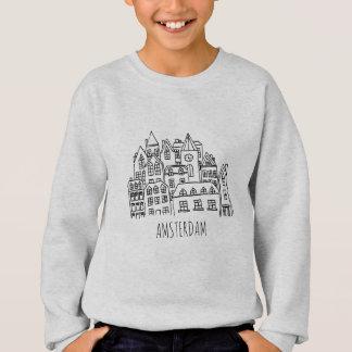 Amsterdam Netherlands Holland City Souvenir Orange Sweatshirt
