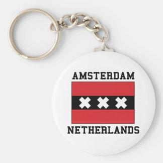 Amsterdam Netherlands Keychain