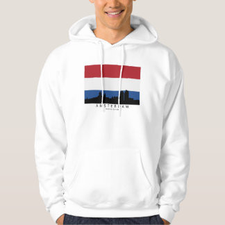 Amsterdam Netherlands Skyline Dutch Flag Hoodie