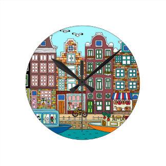 Amsterdam Round Clock