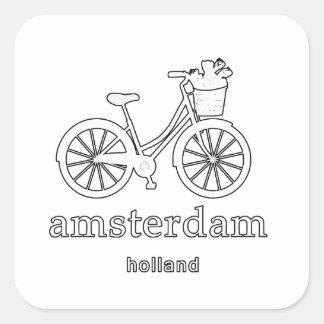 Amsterdam Square Sticker