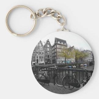 Amsterdam street keychain