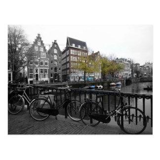 Amsterdam street postcard