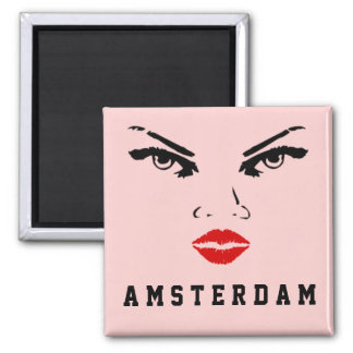 Amsterdam, The Netherlands Woman Square Magnet