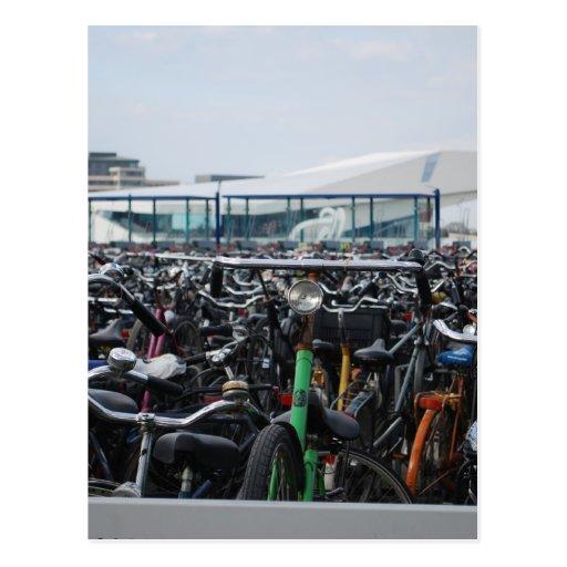 Amsterdam - vélos cartes postales