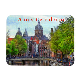 Amsterdam. View of Church of Saint Nicholas. Magnet