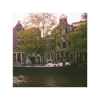 Amsterdam Waterfront Canvas Reproduction
