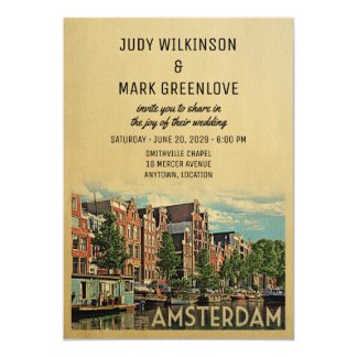 Amsterdam Wedding Invitation Netherlands Holland