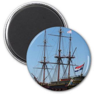 Amsterdam wooden sail ship VOC - Range 2 Inch Round Magnet